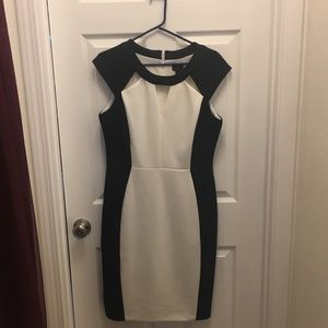 Black and white dress with cutouts